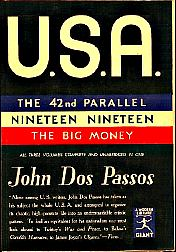 One More Book Cover  -Dos Passos,  USA  (Among My All-Time Faves)