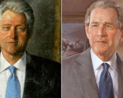 White House Moves Bush and Clinton Portraits to a Back Room