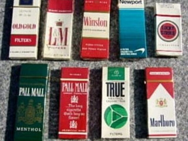 five packs of cigarettes