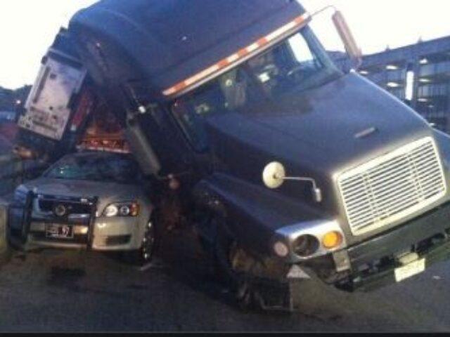 truck meets car