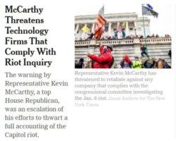mccarthy threatens tech firms