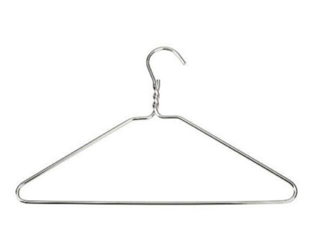 A metal cloth hanger
